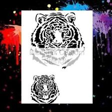 Tiger Set 01 Airbrush Stencil,Template