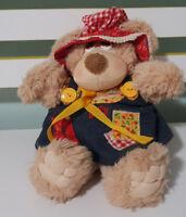 COUNTRY BEARS PLUSH TOY SOFT TOY TEDDY BEAR 25CM MARCHON 1985 BONNET BLUE DRESS!