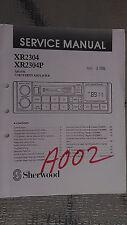 sherwood xr2304 p service manual repair book stereo car radio tape deck amp