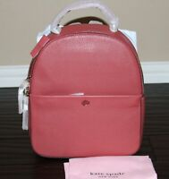 💚 Kate Spade Polly Medium Leather Backpack Bag Purse Red Jasper NWT