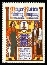 USA Poster Stamp - Meyer-Rotier Printing Co., Milwaukee - Bradbury # C3605