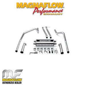 "MAGNAFLOW 2.5"" Cat Back Dual Exhaust Kit 1996-1998 Chevy Silverado 1500 5.7L EC"