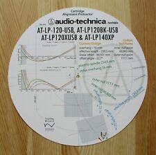 Audio-Technica AT-LP120USB/AT-LP120XUSB/AT-LP140XP del brazo ALINEACIÓN PROTRACTOR