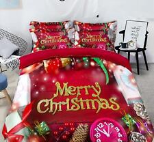 3D Uhr Geschenk Festlich M60 Weihnachten Steppdecke Bettbezug Christmas Bett Fay