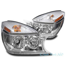 FOR 02-07 BUICK RENDEZVOUS CX CXL CRYSTAL STYLE CHROME HEADLIGHTS HEADLAMPS LAMP