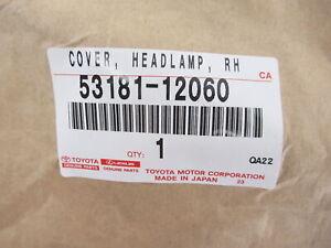 Genuine OEM Toyota 53181-12060 Passenger Side Headlamp Cover 2017-18 Corolla iM