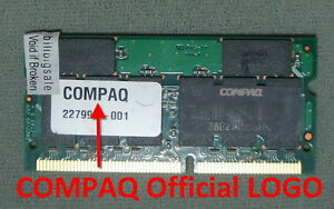 JP COMPAQ 512MB X1 for N160 N180 N410c N600 TC1000 1700 2710 PC133 US RAM 02-C