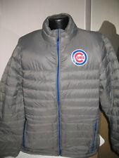 MLB Chicago Cubs Baseball Puffer Jacket Coat Mens Sizes Majestic Nwt
