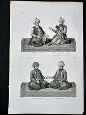 GRAVURE ORIGINALE Imam Scahfiy Hannbel Malik Tableau Général EMPIRE OTTOMAN 1787