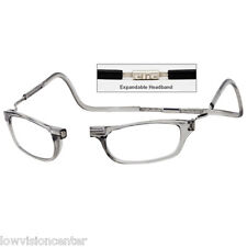 CliC +1.25 Diopter Magnetic Reading Glasses: Expandable - Smoke, 1 Size Fits All