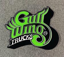 "Gullwing Trucks Skateboard Sticker 5"" Green sk8"