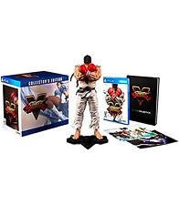 Street Fighter 5 Collectors Edition PlayStation 4 10 Inch Ryu Figurine Artbook