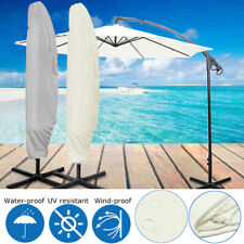 265x81cm Waterproof Garden Parasol Banana Umbrella Patio Cover Outdoor Protector