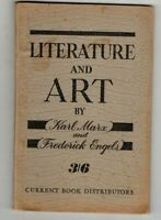 LITERATURE AND ART ~ Karl Marx and Frederick Engels ~ c1949 ~ Vintage P/B