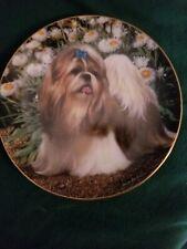 Danbury Mint- Picture Perfect- by Simon Mendez Shih Tzu Collector Plate