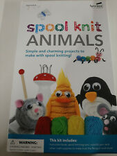 Spice Box Spool Knit Animals Contains Yarn Knitting Tool Felt Foam Eyes and More