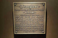 Disneyland welcome plaque replica plaque