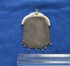 Fine FRENCH 800 Silver Small MESH PURSE-Double Sided-NR