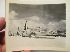 *PHOTO* P-47 Thunderbolt Fighters ~ Saipan SWP Theater ~ Original Print