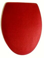 CRANBERRY FLEECE ELONGATED TOILET SEAT LID COVER