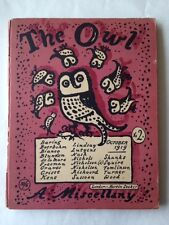 The Owl:  A Miscellany, October, 1919 (Robert Graves, Editor)