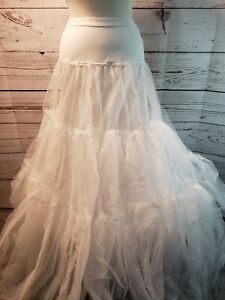 Ball Gown PETTICOAT Slip NWT Adult White Lined Size Small $79 Retail