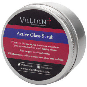 Valiant active glass scrub, Stove and Oven Burnt on Cleaner Glass & Hard Surface