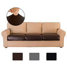 Pu Leather Sofa Couch Seat Cushion Covers Stretchy Slipcover Furniture Protector
