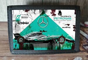F1 Petronas Mercedes Racing Nylon Wallet Ideal Xmas Gift/ Stocking Filler