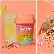 Teavana Tea Beach Bellini Starbucks Pineapple Mango Flavored Herbal 12 Sachets