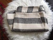 NWT British Khaki Cream & Black Stripe Stretch Woven Knit Shorts 6