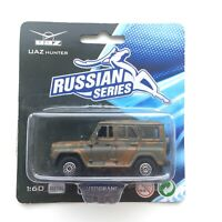 Russian UAZ HUNTER Military Color Die-Cast Metal Model 1:60 Car Toy Brand NEW