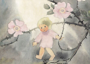 Kunstkarte: Mili Weber - Wildröslein