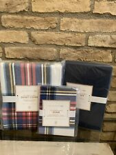 Pottery Barn Teen Oliver Plaid Twin Duvet Cover Sham Sheet Set Bedding Set New
