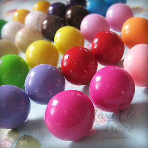 Bubble Gum Ball Candy Style Stud Earrings. 80's Retro Colour Pop. Many Colours