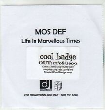 (AW973) Mos Def, Life In Marvellous Times - DJ CD