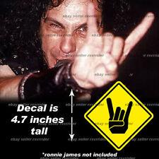 heavy metal music hand decal sticker corna devil horn