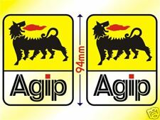 Agip Pair of Decal Stickers Ducati Cagiva Aprillia 94mm