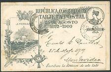 URUGUAY SAUCE Cancel on Postal Stationery 1901