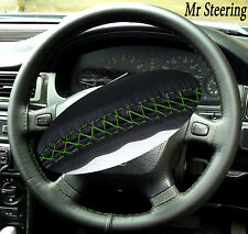FITS LANDROVER DISCOVERY BEST ITALIAN LEATHER STEERING WHEEL COVER GREEN STITCH