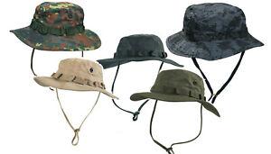 Buschhut Boonie Hat versch Farben 100% Baumwolle Dschungelhut Schlapphut Army BW