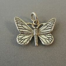 .925 Sterling Silver Large 3-D Detailed BUTTERFLY CHARM NEW Pendant 925 BF10