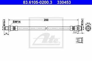 Flexible de frein AUDI A4 (8D2, B5) A4  (8D2, B5) A4 Avant (8D5, B5) 40066331438