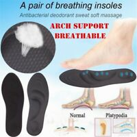 4D Memory Sponge Orthopedic Breathing Insole Arch Support Flat Foot Care Sole