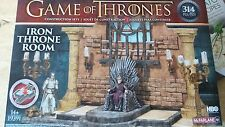 GAME OF THRONES IRON THRONE ROOM Construction Set McFarlane 314 Pieces SEALED