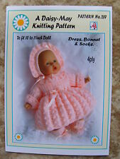 """DOLLS KNITTING PATTERN for 10"""" inch.doll No. 257 by Daisy-May (Val Young)"""
