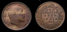 India 1910 1/4 Anna King Edward VII KM#502 UNC 5492