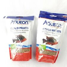 2 Aqueon Cichlid Pellet Medium Fish Food 7.5 oz Bag