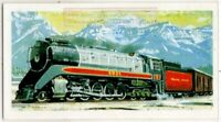 Modern Canadian Pacific Railway Steam Powered Locomotive  Vintage Trade Ad Card