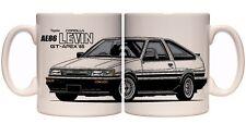AE86 Toyota Corolla Levin 11oz Taza de Cerámica Jdm Deriva touge